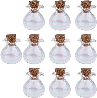 02 P Prettyia 10pcs Flacons Verre Bouteilles Parfum Vides Pots Avec Bouchon Li/ège Pour Stockage