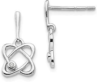 925 Sterling Silver Oval Diamond Post Stud Earrings Drop Dangle Fine Jewelry Gifts For Women For Her