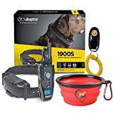 Dogtra 1900S Remote Dog Training Collar - 3/4 Mile Range, Waterproof, Rechargeable, Vibration - Includes Essential Pet Products Dog Training Clicker and Collapsible Pet Food Bowl