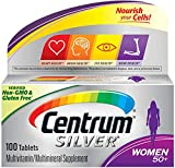 Centrum Silver Multivitamin for Women 50 Plus, Multivitamin/Multimineral Supplement with Vitamin D3, B Vitamins, Calcium and Antioxidants - 300 Count (3 Bottles of 100)