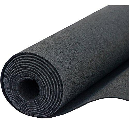Filz, Filzstoff, Dekorationsfilz, imprägniert, Breite 100 cm, Dicke 4 mm, Meterware 0,5 lfm - schwarz