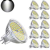 Yafido Bombilla LED GU5.3 MR16 12V 5W Blanco Frio Equivalente a Halogeno 35W Spot Luz GU 5.3 6000K Foco Ojo de Buey 450 Lumen No-regulable Ø50 x 48 mm Pack de 10