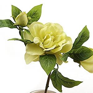 Lopkey 2 Bunch Silk Artificial Gardenia Flowers Wedding Home Decor