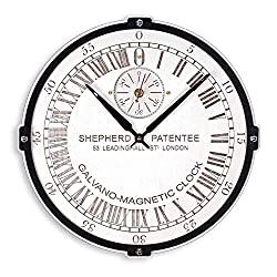 London Greenwich Mean Time (GMT) Shepherd Gate large 24-hour analogue dial wooden wall clock white Handcrafted Living Room and Office interior design decorative personalized engraving custom gift