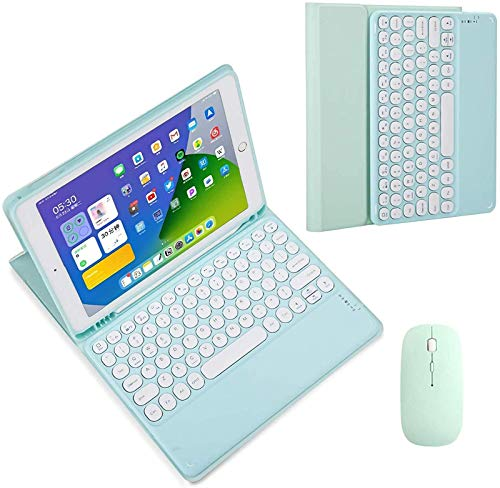 FANG IPad Keyboard Case 10.5 for IPad Air 3rd Gen 2019 10.5/iPad Pro 10.5 2017-Detachable Wireless Bluetooth Keyboard with Touchpad, Magnetic Smart Case Cover,Green