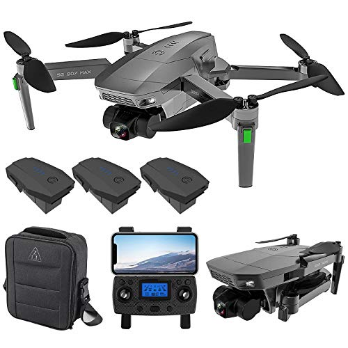 ZLL SG907 MAX 5G WiFi FPV GPS with 4K HD Camera Three-Axis Gimbal Brushless Foldable RC Drone (Include 3 Battery)