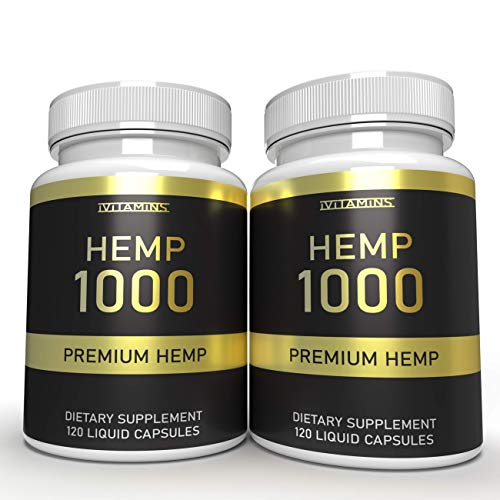 iVitamins Hemp Oil Capsules : May Help with Pain, Headaches, Stress Relief, Mood Support and More : Rich in Omega 369 Fatty Acids : Hemp Oil : Hemp Extract Softgels (2 Pack)