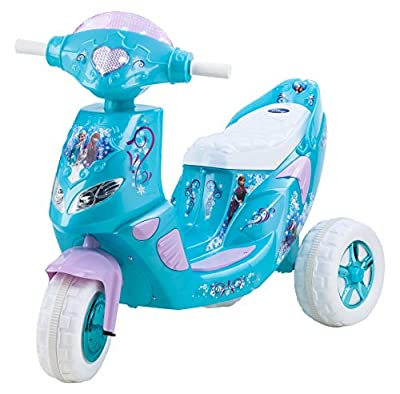 Kid Trax Disney Frozen Kids Scooter Ride On Toy, 6 Volt, Kids 3-5 Years Old, Max Weight 55 lbs, Single Rider, Battery and Charger Included, Blue