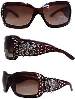 Ladies Sunglasses Winged Cross Concho UV 400 Protection