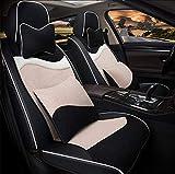 Cubierta de asiento de automóvil conjunto completo, almohadilla de asiento de vellón corto de invierno Cubierta de 4 piezas Set Universal Car Asiento de asiento Cojín,F