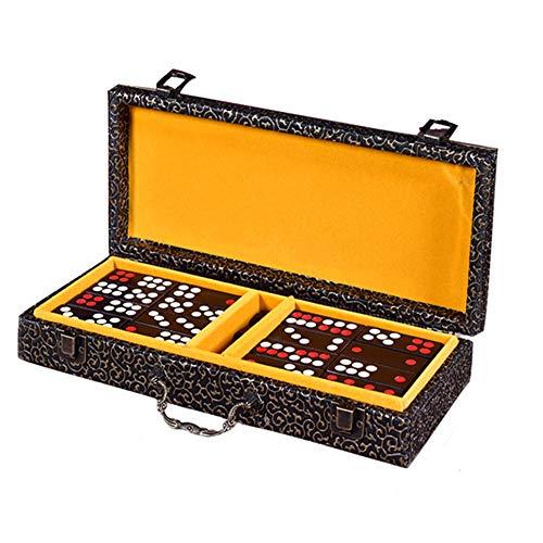 Liergou-Accessories Chinese Pai Gow Paigow Spiel Casino Fun Redwood Pai Gow Domino High-End Home Guangdong Hong Kong Mahjong Haushalt (Farbe : Weiß, Größe : 320×120×60mm)