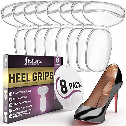 Fersenpolster für Unbequem Fersensporn Einlagen für Große Schuhe - Schuheinlagen aus Gel Fersenhalter Fersenschutz Einlagen Damen Pumps High Heels (4 Paar)
