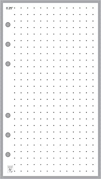 FILOFAX//ORGANISER-HUGE OVER HALF KILO~PERSONAL Size QUADRILLE Pages~NEW LOOSE
