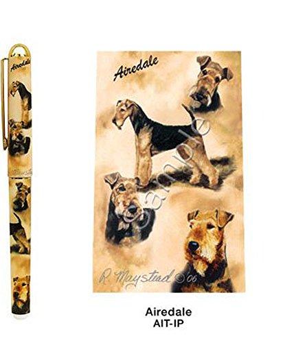 Airedale Terrier Hund Roller Kugelschreiber Entworfen von Ruth Maystead (AIT-IP) Airedale Terrier Dog Roller Ball Pen Designed by Ruth Maystead (AIT-IP)