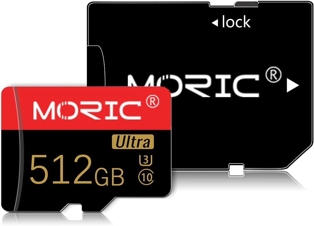512GB Micro SD Card High Speed Class 10 with Free SD Adapter, Designed for Android Smartphones, Tablets and Other Compatible Devices (Red&Gold 512GB)