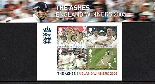 Royal Mail 2005Cricket, der Asche, England Gewinner Briefmarken in Präsentation Pack