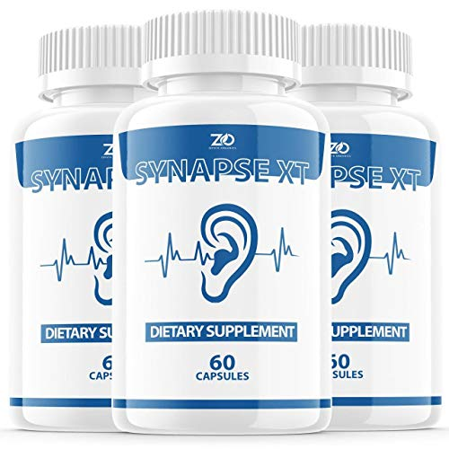 (3 Pack) Synapse XT for Tinnitus Supplement Pills, Premium Synapse XT Relief Supp Capsules for The Original Brand Only (180 Capsules)
