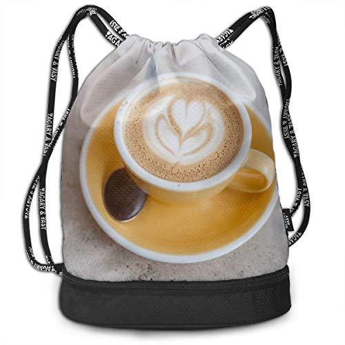 Rucksack mit Kordelzug, für eine Tasse Kaffee