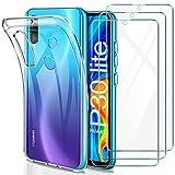 YNMEacc Coque Huawei P30 Lite, Silicone Transparente Case Souple Étui Protection Bumper Housse avec...