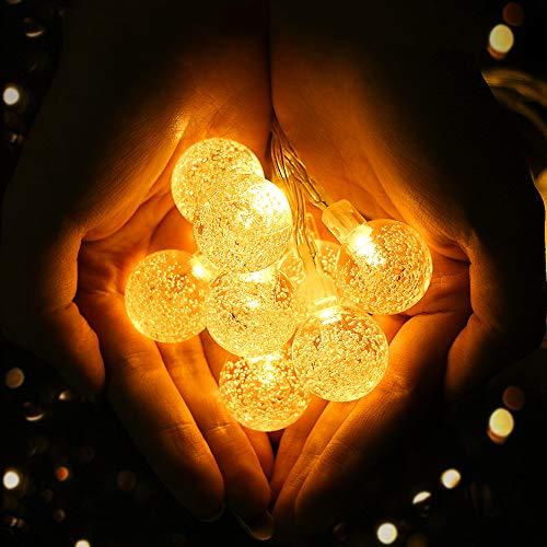 Viixm Cadena de Luces, 8 Modos de Luz y IP65 Impermeable para Interior, Exterior, Jardín, Arboles, Patio, Fiesta, Vacaciones