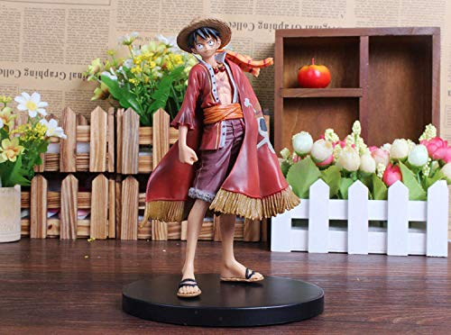 URPRU Anime One Piece Monkey D Luffy The Red Cloak PVC Figura de accion OP Luffy Ultimate King Ver. Modelo Coleccionable 18cm