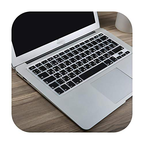 All-Equal Euro Enter Russian Language Letter Keyboard Cover For Macbook For Air Pro 13 15 16 Touch Bar 2019 Sticker Film-New Pro16Inch A2141-
