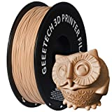 GEEETECH PLA 3D Printer Filament, 1kg Spool (2.2lbs), 1.75mm Dimensional Accuracy +/- 0.03mm, Wood