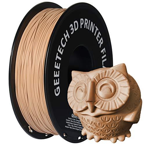 GEEETECH Filamento PLA 1.75mm para impresión 3D, 1kg Spool, Madera