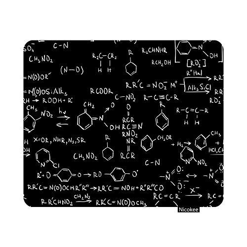 Nicokee Gaming Mouse Pad Chemistry Code Non-Slip Rubber Mouse Pad for Computers, Laptop, Office, Home Rectangle Personalized Mousepad 9.5 Inch x 7.9 Inch