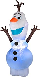 Gemmy Lighted Olaf Christmas Inflatable with Swirling Colors of Light Indoor/Outdoor Decoration