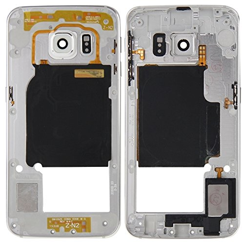 Compatibele Vervangings IPartsBuy Back Plate Behuizing Camera Lens Panel met zijtoesten en luidspreker Ringer Buzzer for Samsung Galaxy S6 Edge / G925 Accessory (Color : Silver)