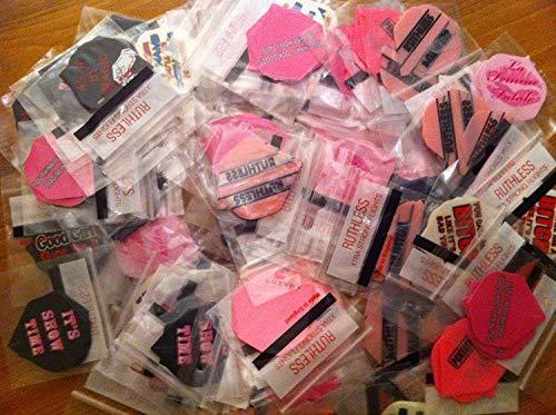 Große Vielfalt Mix of Pink/Damen Dart Flights, lädt der Sorte, wählen Sie die Anzahl der Sets.