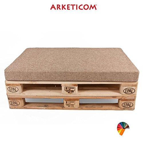 Arketicom Coussin Palette Assise Matelas Canape Poliurethaine 120x80x10 Chanvre