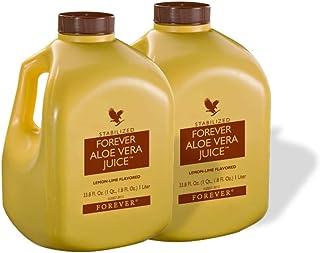 Forever Living Aloe Vera Juice 33,8 oz, con sabor a Lima Limón2 Bottles