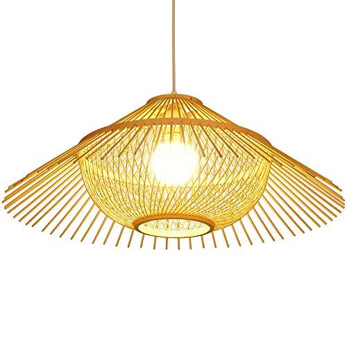 Lámpara de bambú,  lámpara de bambú Pantalla de jardín de jardín Lámpara de sala de estar Lámpara de asiento de té Iluminación creativa Lámpara de bambú de arte