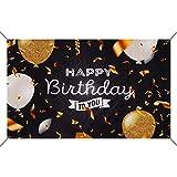 Decoración de Fiesta de Cumpleaños, Póster de Tela Extra Grande para Feliz Cumpleaños Fondo Materiales Fiesta Cumpleaños para Niños Mujeres Hombres 180×108.5cm
