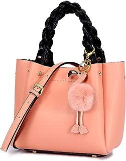 Fashion New Retro Casual Fashion Bills Shoulder Slung Small Handbag Female Cowhide Bag (Color : Pink)