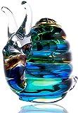 LiuliuBull W Caracoles Decoraciones de Vidrio Esculturas de Animales creativos Decoraciones de estantería Modernas Decoraciones artesanales Hecho a Mano Obras de Arte Regalos Infantiles