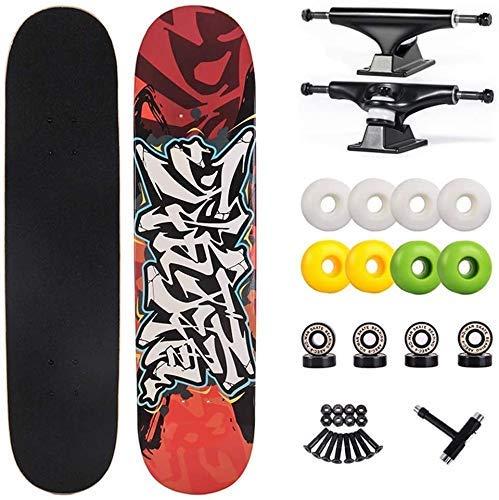 Pro Skateboard Cruiser Penny Brett Tricks Skateboarddecks Brush Street Cruiser 31 Zoll Freestyle Longboard Complete Skateboard for Jugendliche Anfänger Mädchen Jungen Kinder Teens Erwachsene xuwuhz