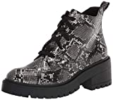 Skechers Women's Chunky Fashion Boot, Gray/Black, 8