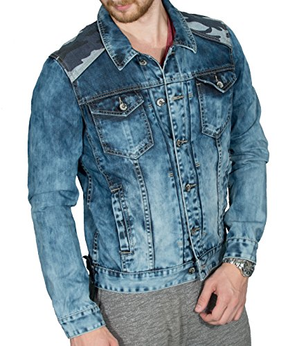 BetterStylz, JalaBZ, jeansjas voor heren, denim, vrije tijd, jas, camo, vegan, slimfit, super Acid Wash, maten S-XXL