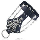EROSPA® Ketten-Handschmuck / Armband - Skeleton Knochen Hand Totenkopf Skelett - Gothic Punk Rock -...