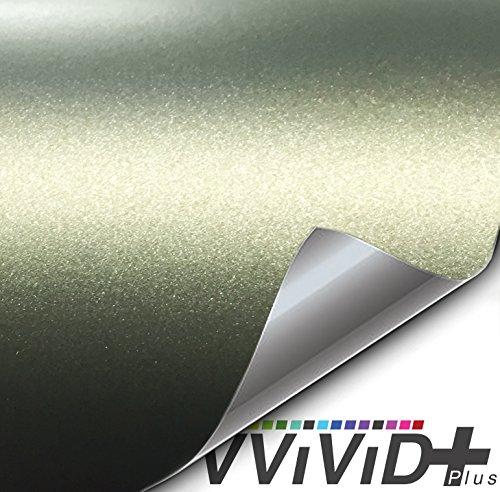 VViViD Matte Metallic Military Green (Ghost) Vinyl Wrap Roll (1ft x 5ft)