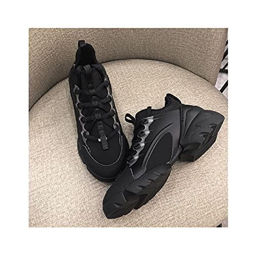 Zapatos de Cuña Baja Sin Cordones Ligeros para Mujer para Mujer Zapatos Cómodos de Oficina de Trabajo Informal,Black-36 EU