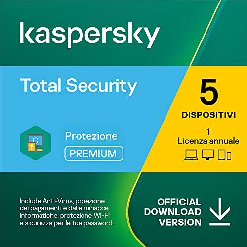 Kaspersky Total Security 2021 | 5 Dispositivi | 1 Anno | PC   Mac   Android | Codice d attivazione via email