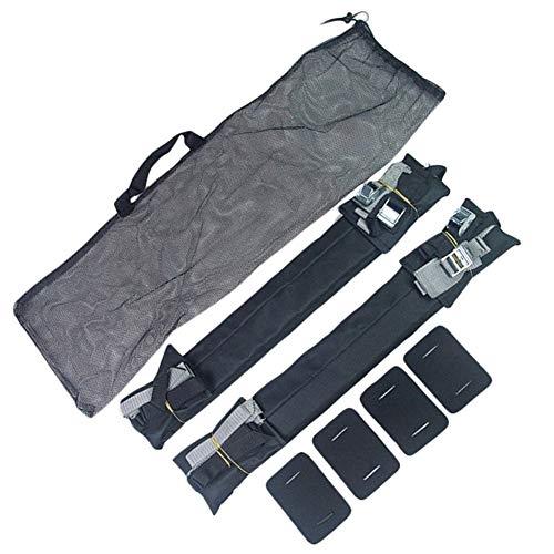 meimeijia Conectar Coche Universal Suave Barras de Techo portaequipajes Tabla de Surf Carrier Tenedor (Color : Black)