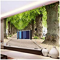 Wkxzz 壁の背景装飾画 カスタム壁画壁紙林道リビングルームのソファ寝室テレビ背景写真壁紙壁画装飾壁アート-280X200Cm