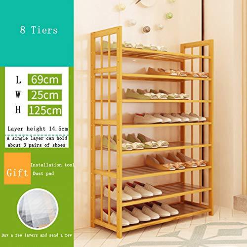 Zapatero de madera, ahorra espacio, con compartimento de almacenamiento. talla 1