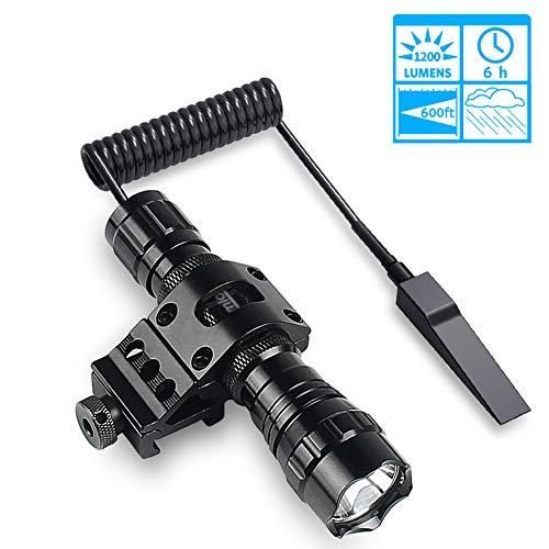 pas cher un bon Lampe de poche LED tactique, étanche et à haute intensité lumineuse avec ceinture de changement de vitesse,…