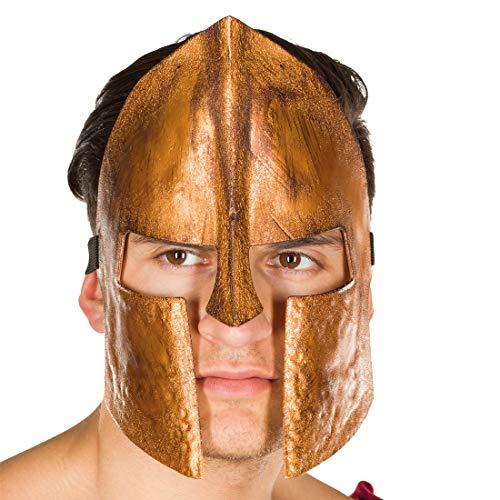 NET TOYS Gladiator-Maske für Erwachsene | Bronze | Außergewöhnliche Herren-Maskerade Krieger-Maske Römer | Perfekt geeignet für Mottoparty & Karneval